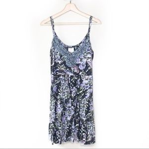 Free People vintage floral tiered strappy dress